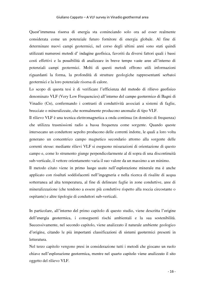 Anteprima della tesi: A VLF Survey in Vinadio Geothermal Area, Pagina 6