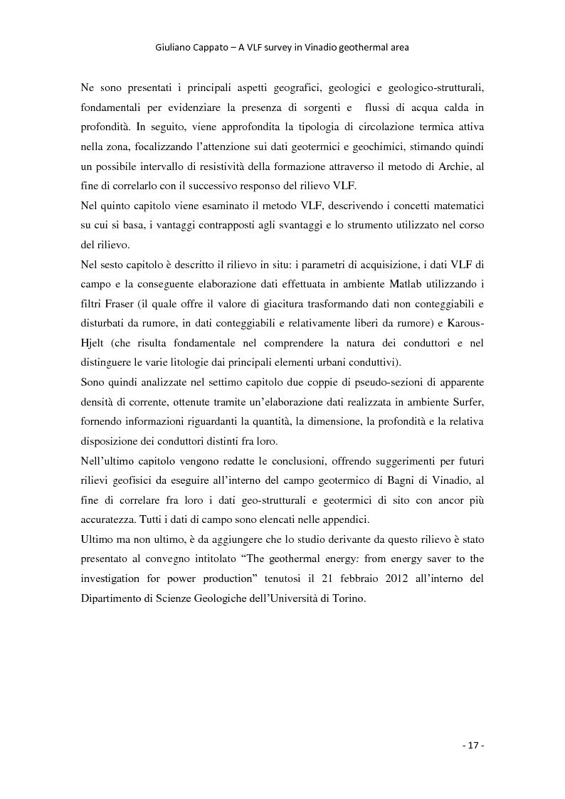 Anteprima della tesi: A VLF Survey in Vinadio Geothermal Area, Pagina 7