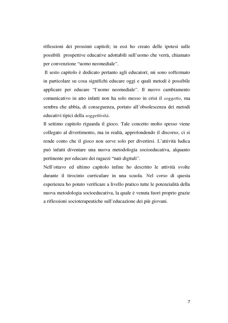 Anteprima della tesi: Crisi dell'uomo a una dimensione: Prospettive educative per l'uomo che verrà, Pagina 6
