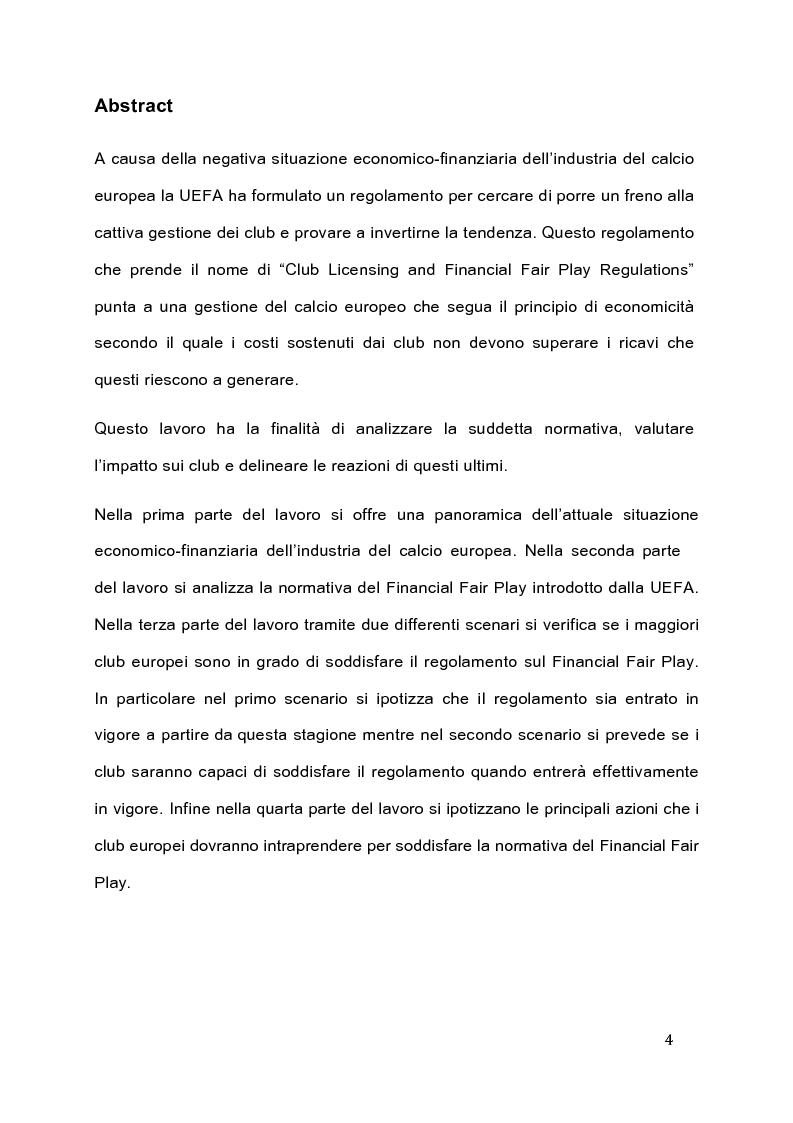 Anteprima della tesi: Il Fair Play Finanziario: normativa per un calcio sostenibile, Pagina 2