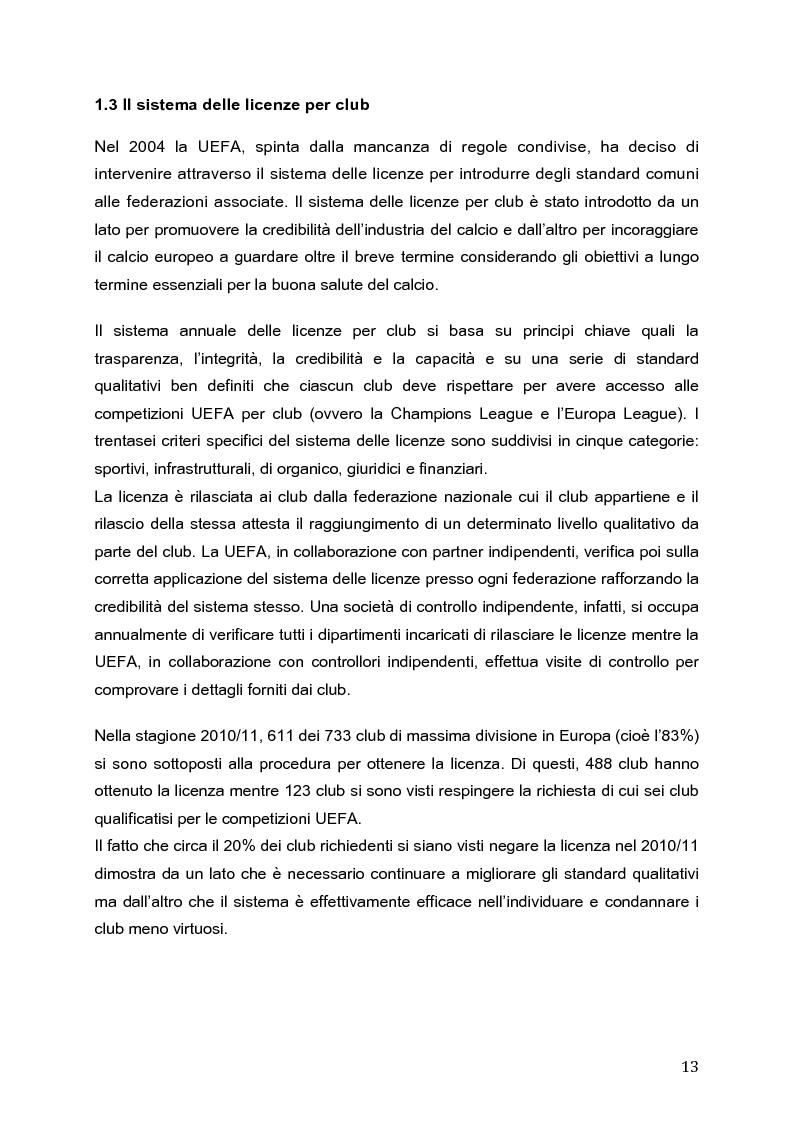 Anteprima della tesi: Il Fair Play Finanziario: normativa per un calcio sostenibile, Pagina 8