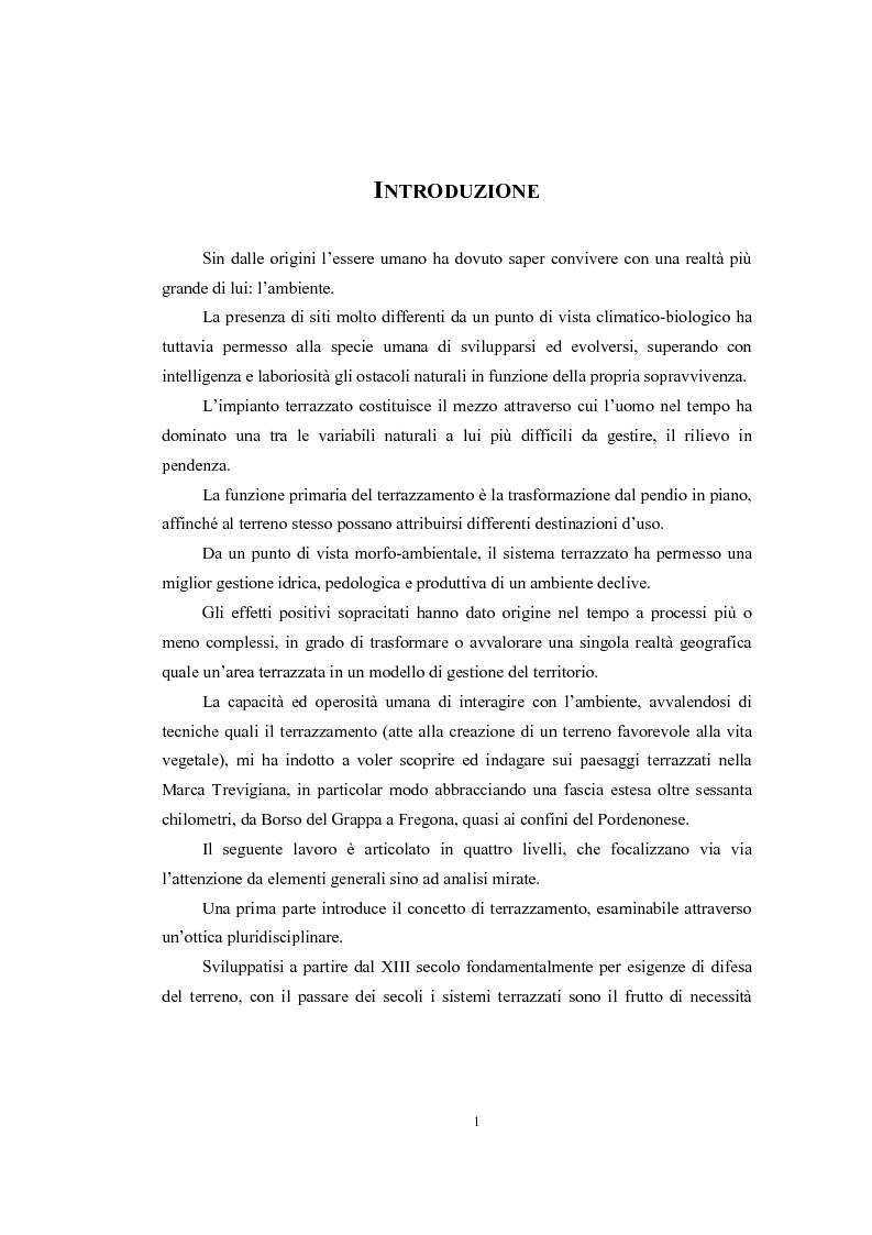 Anteprima della tesi: Analisi geografica dei paesaggi terrazzati nella provincia di Treviso, Pagina 2