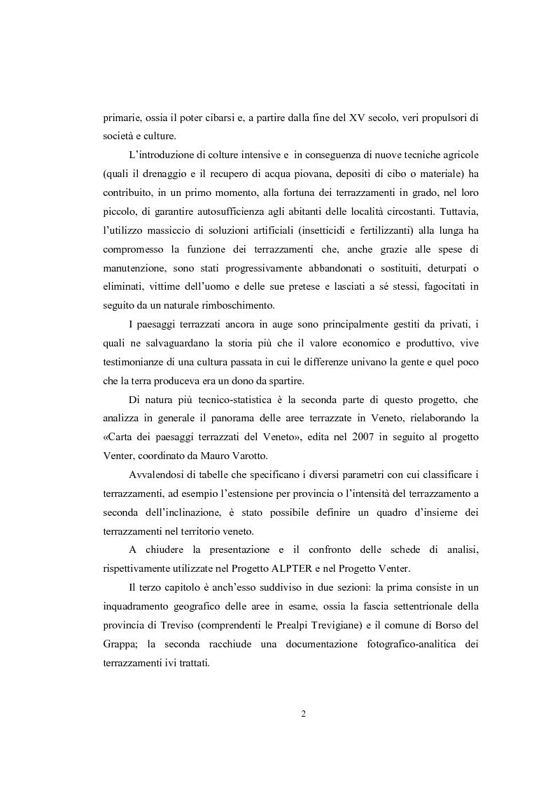 Anteprima della tesi: Analisi geografica dei paesaggi terrazzati nella provincia di Treviso, Pagina 3