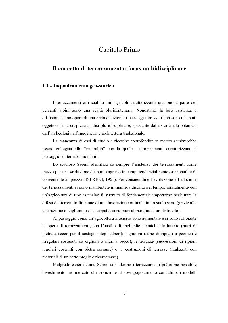 Anteprima della tesi: Analisi geografica dei paesaggi terrazzati nella provincia di Treviso, Pagina 6