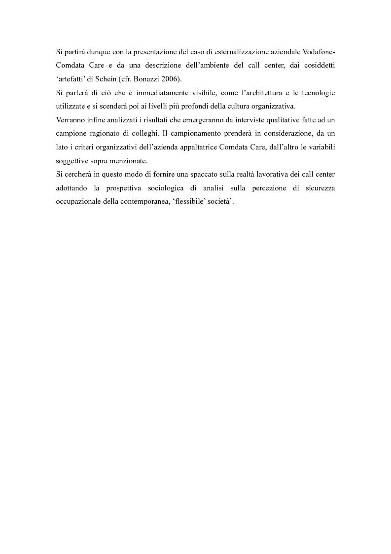 Anteprima della tesi: Call center, rifugio o trappola?, Pagina 5