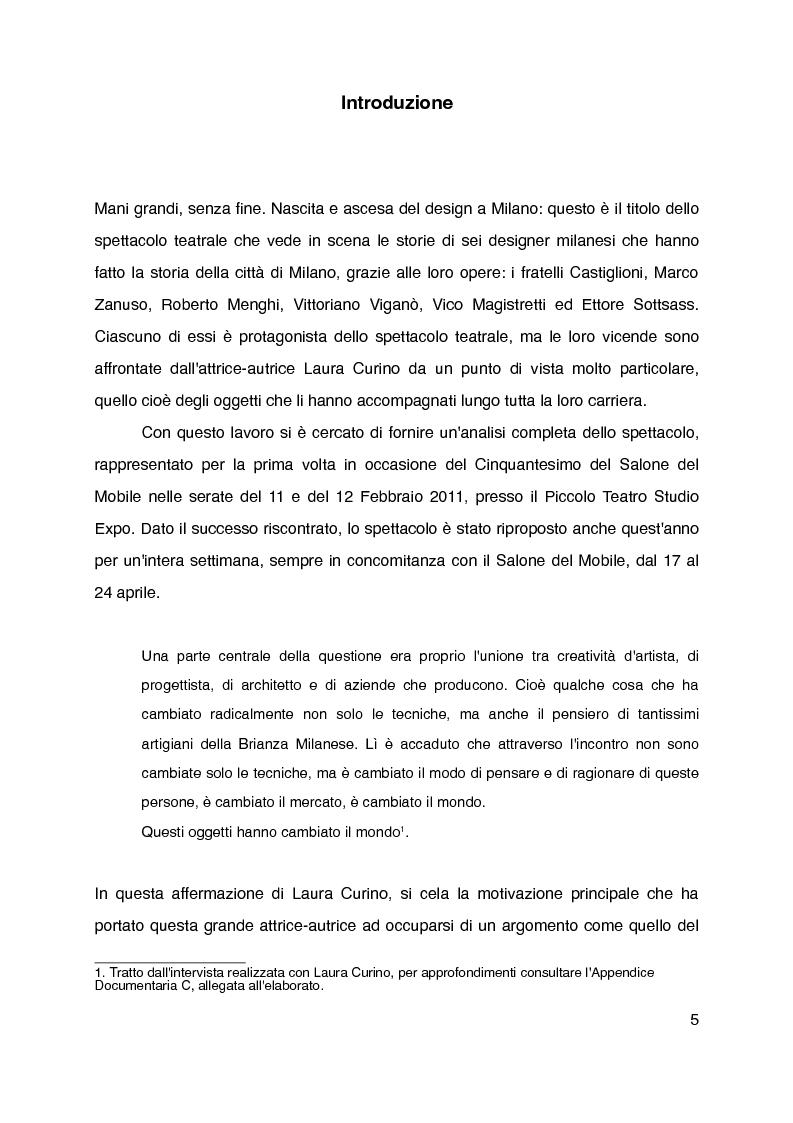 """Anteprima della tesi: """"Mani grandi, senza fine"""" di Laura Curino. Analisi dello spettacolo, Pagina 2"""