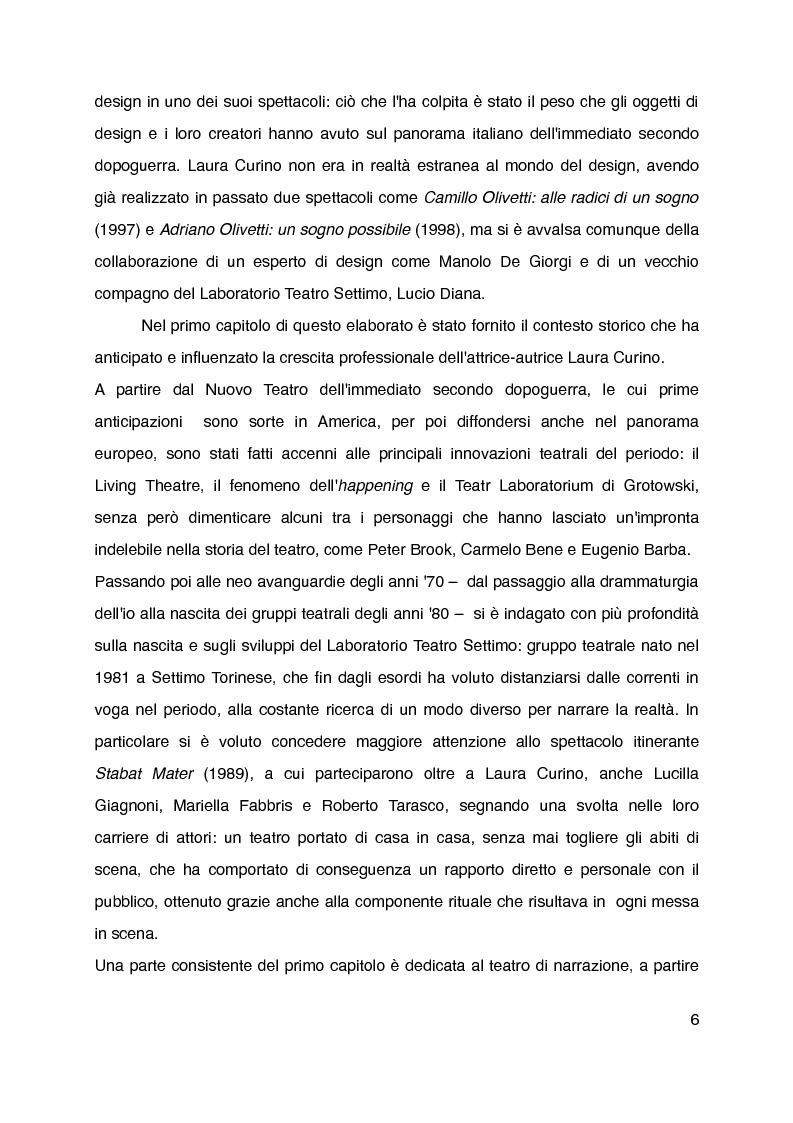 """Anteprima della tesi: """"Mani grandi, senza fine"""" di Laura Curino. Analisi dello spettacolo, Pagina 3"""