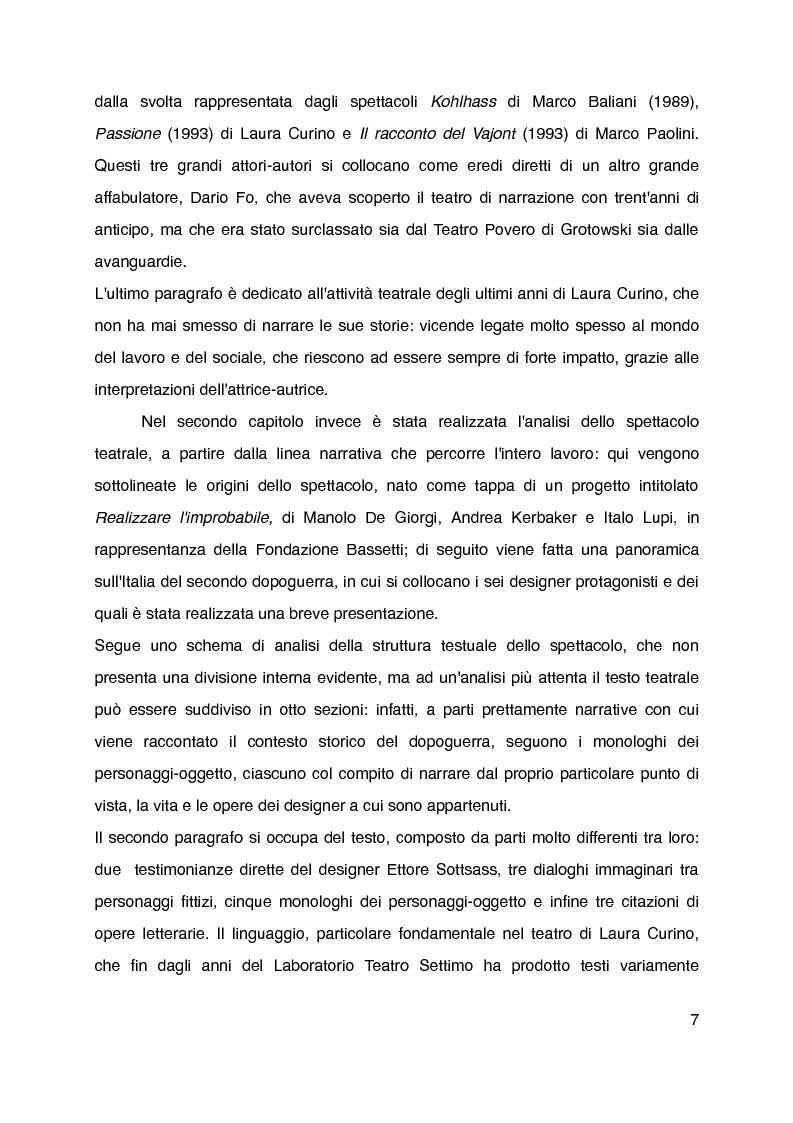 """Anteprima della tesi: """"Mani grandi, senza fine"""" di Laura Curino. Analisi dello spettacolo, Pagina 4"""