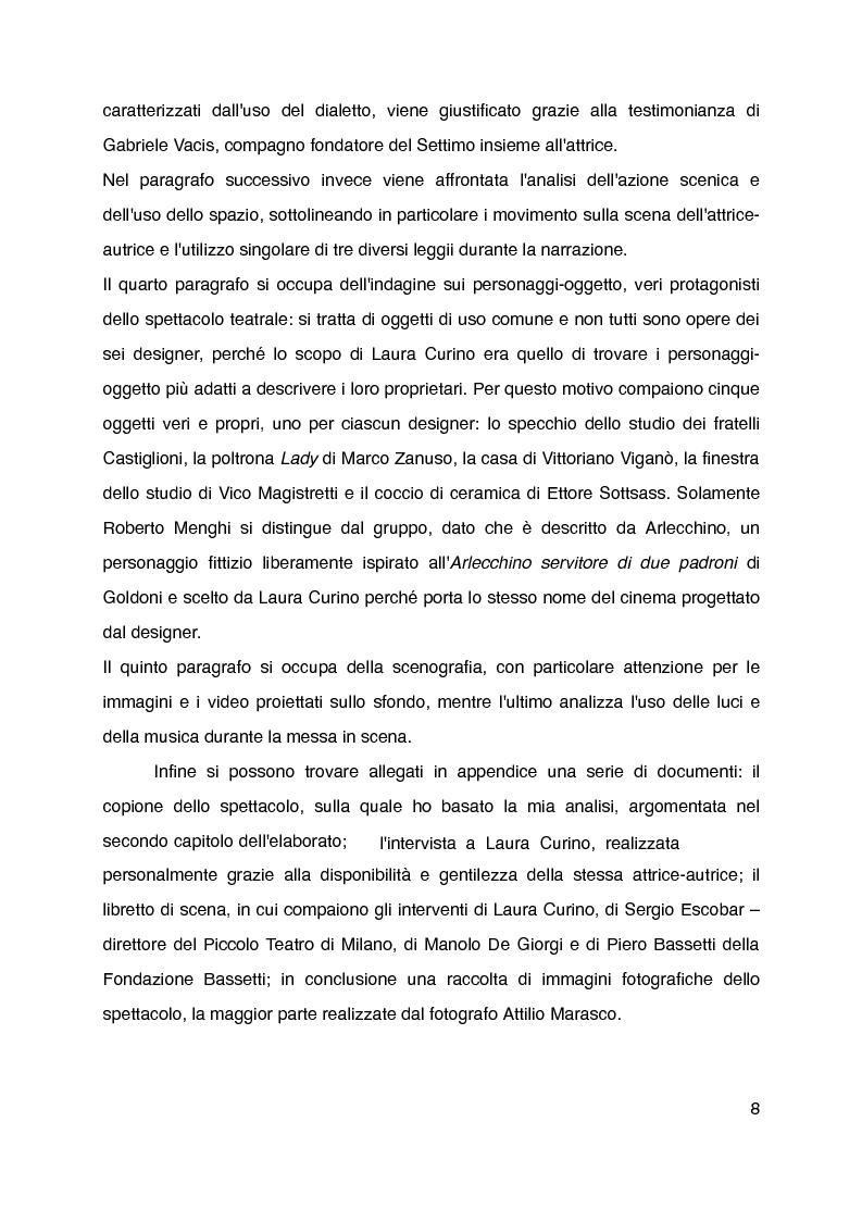 """Anteprima della tesi: """"Mani grandi, senza fine"""" di Laura Curino. Analisi dello spettacolo, Pagina 5"""