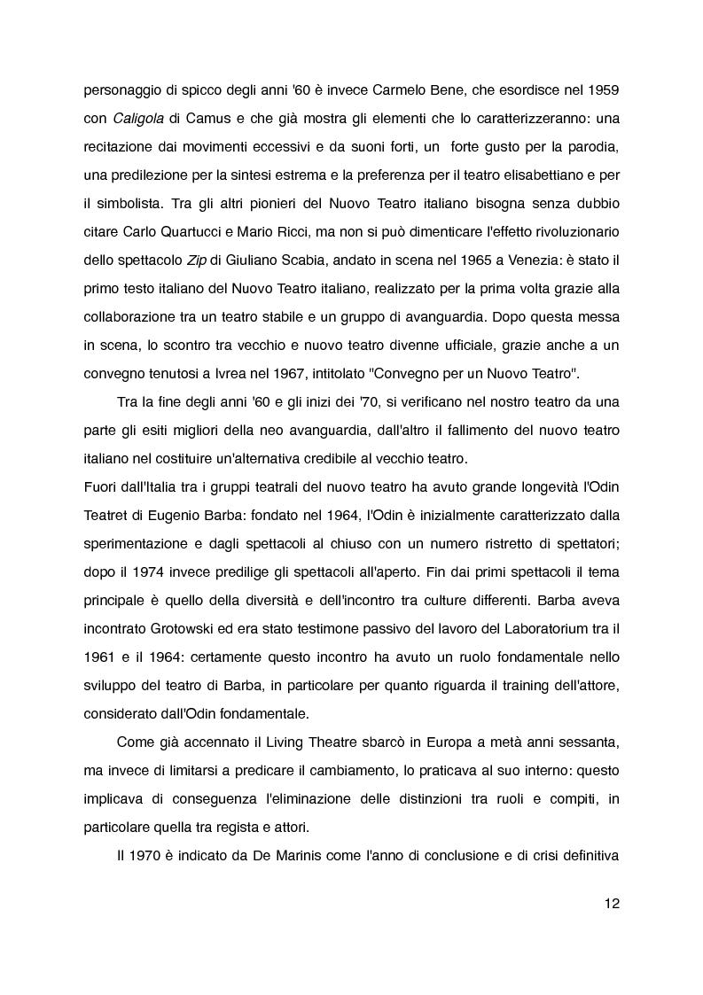 """Anteprima della tesi: """"Mani grandi, senza fine"""" di Laura Curino. Analisi dello spettacolo, Pagina 9"""