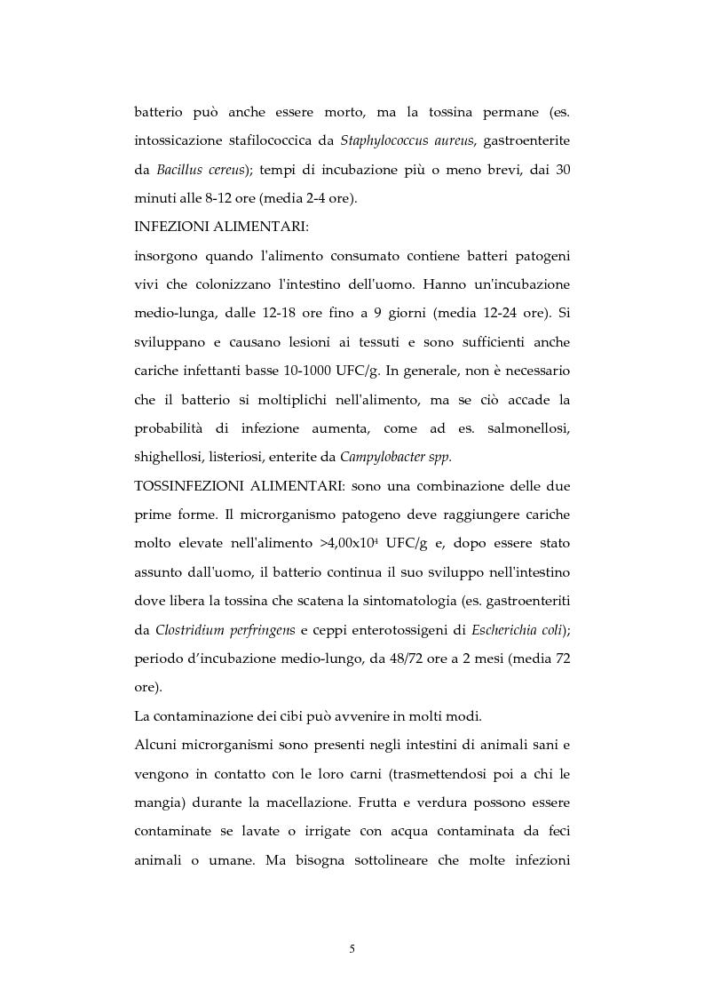 Anteprima della tesi: Analisi di episodi di Tossinfezione associata a CLOSTRIDIUM PERFRINGENS verificatisi  presso strutture sanitarie nella città di Milano, Pagina 6