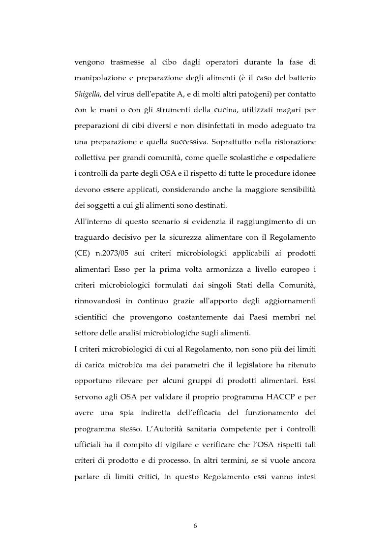Anteprima della tesi: Analisi di episodi di Tossinfezione associata a CLOSTRIDIUM PERFRINGENS verificatisi  presso strutture sanitarie nella città di Milano, Pagina 7