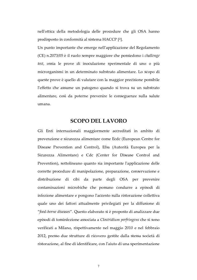 Anteprima della tesi: Analisi di episodi di Tossinfezione associata a CLOSTRIDIUM PERFRINGENS verificatisi  presso strutture sanitarie nella città di Milano, Pagina 8