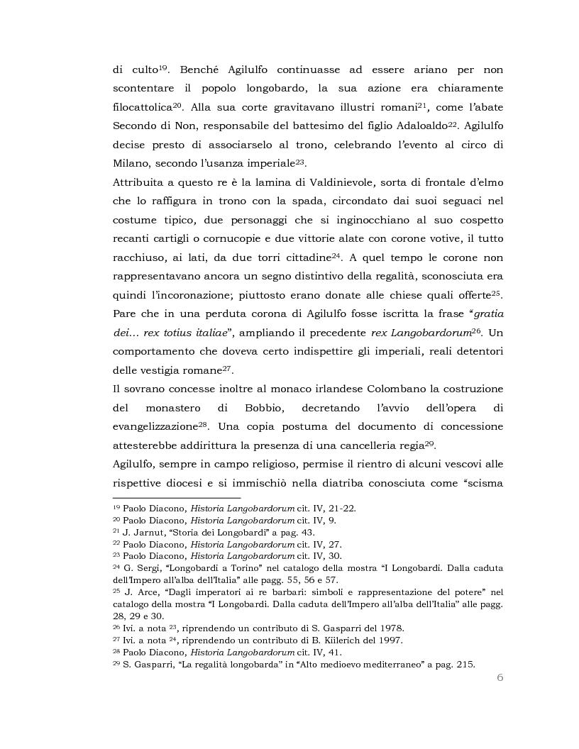 Anteprima della tesi: I Longobardi: tra storia medievale e contemporanea vicenda UNESCO, Pagina 5