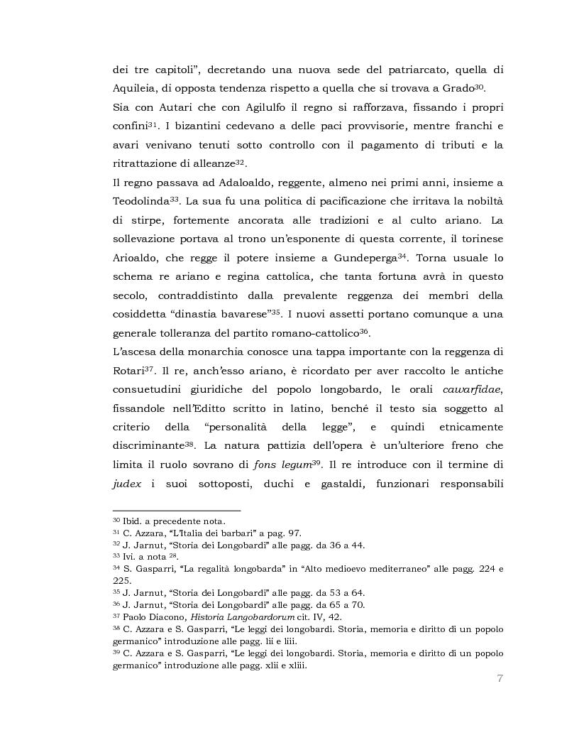 Anteprima della tesi: I Longobardi: tra storia medievale e contemporanea vicenda UNESCO, Pagina 6