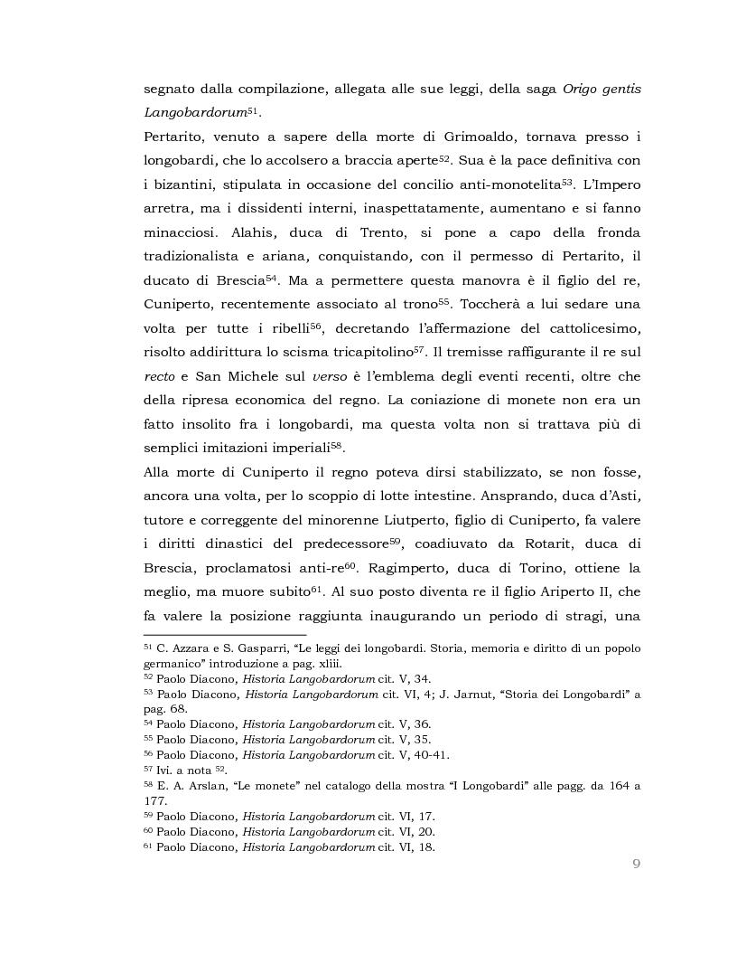 Anteprima della tesi: I Longobardi: tra storia medievale e contemporanea vicenda UNESCO, Pagina 8