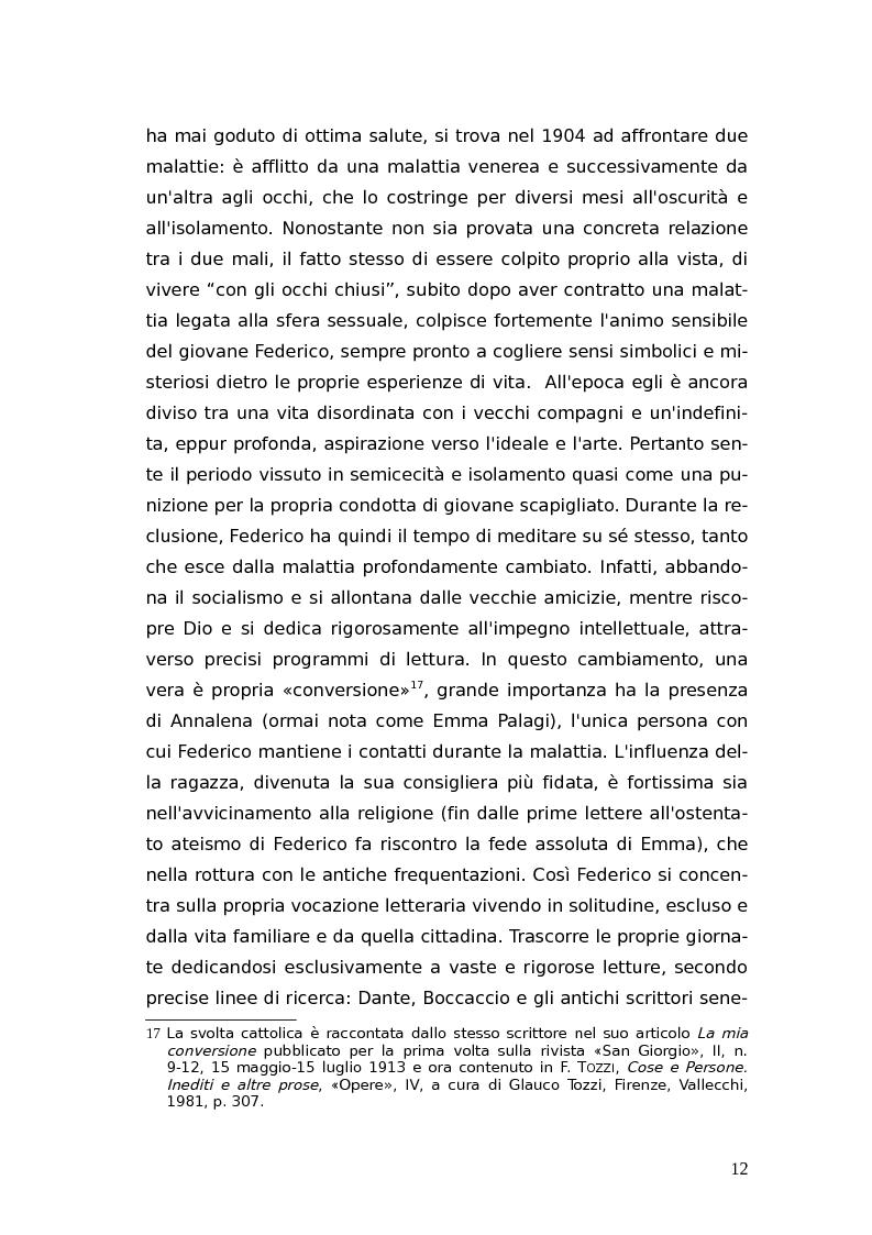 Anteprima della tesi: L'identità femminile nei romanzi di Federico Tozzi, Pagina 11