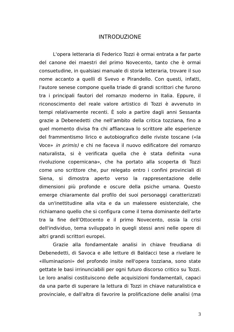 Anteprima della tesi: L'identità femminile nei romanzi di Federico Tozzi, Pagina 2