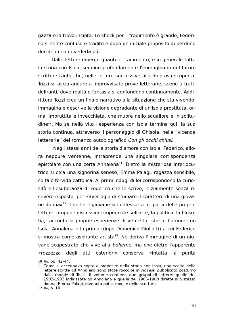 Anteprima della tesi: L'identità femminile nei romanzi di Federico Tozzi, Pagina 9