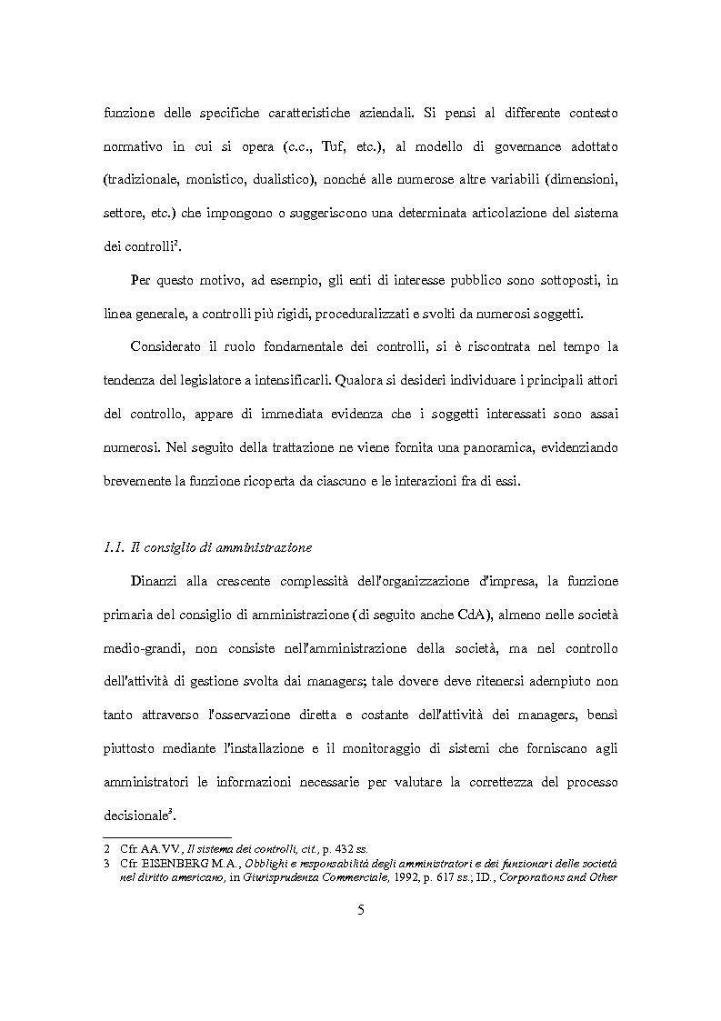 Anteprima della tesi: D.Lgs. 231/2001 e attori del controllo: recenti criticità e nuove prospettive., Pagina 6