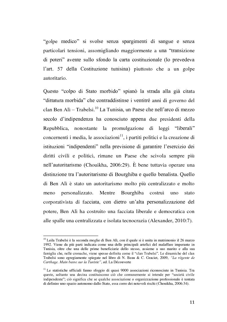Anteprima della tesi: La rivolta tunisina e i nuovi media: un caso di indagine qualitativa., Pagina 10