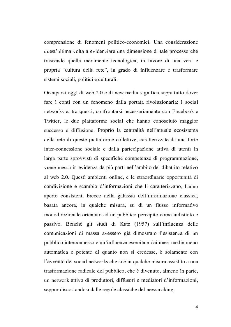 Anteprima della tesi: La rivolta tunisina e i nuovi media: un caso di indagine qualitativa., Pagina 3