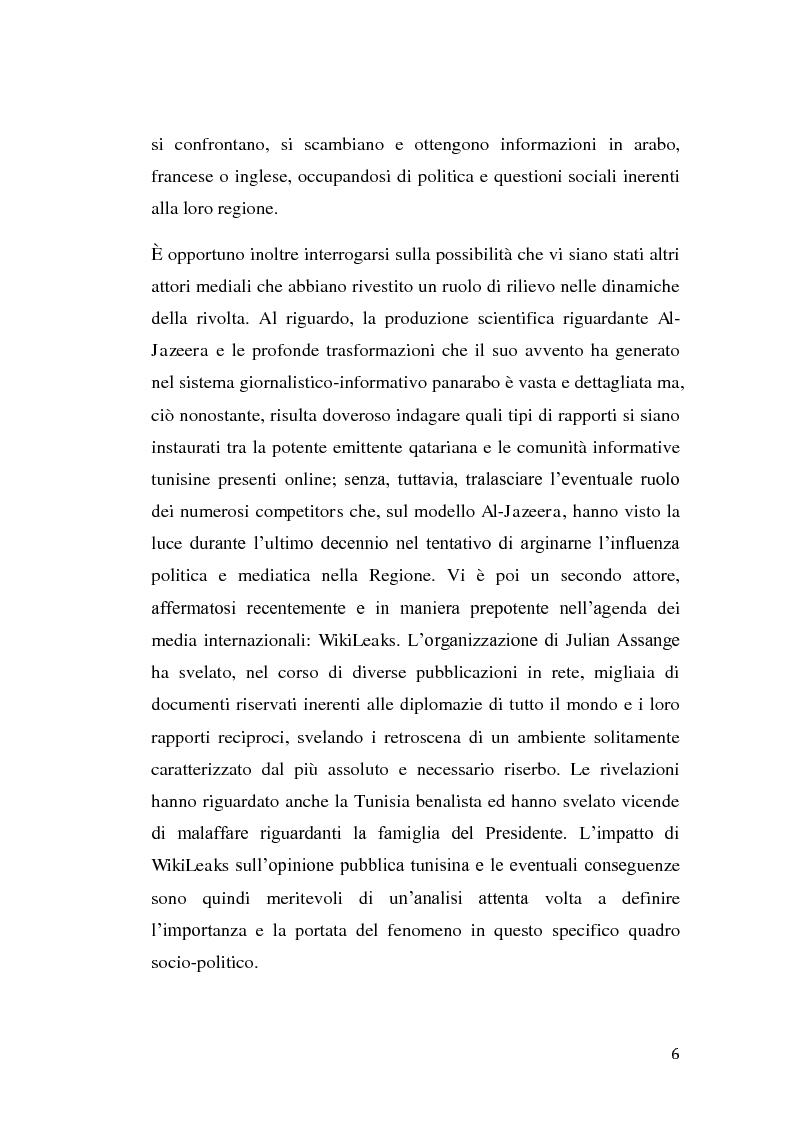 Anteprima della tesi: La rivolta tunisina e i nuovi media: un caso di indagine qualitativa., Pagina 5