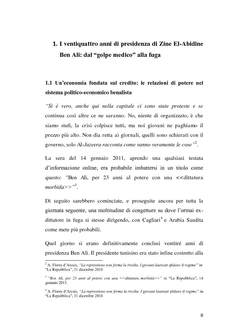 Anteprima della tesi: La rivolta tunisina e i nuovi media: un caso di indagine qualitativa., Pagina 7