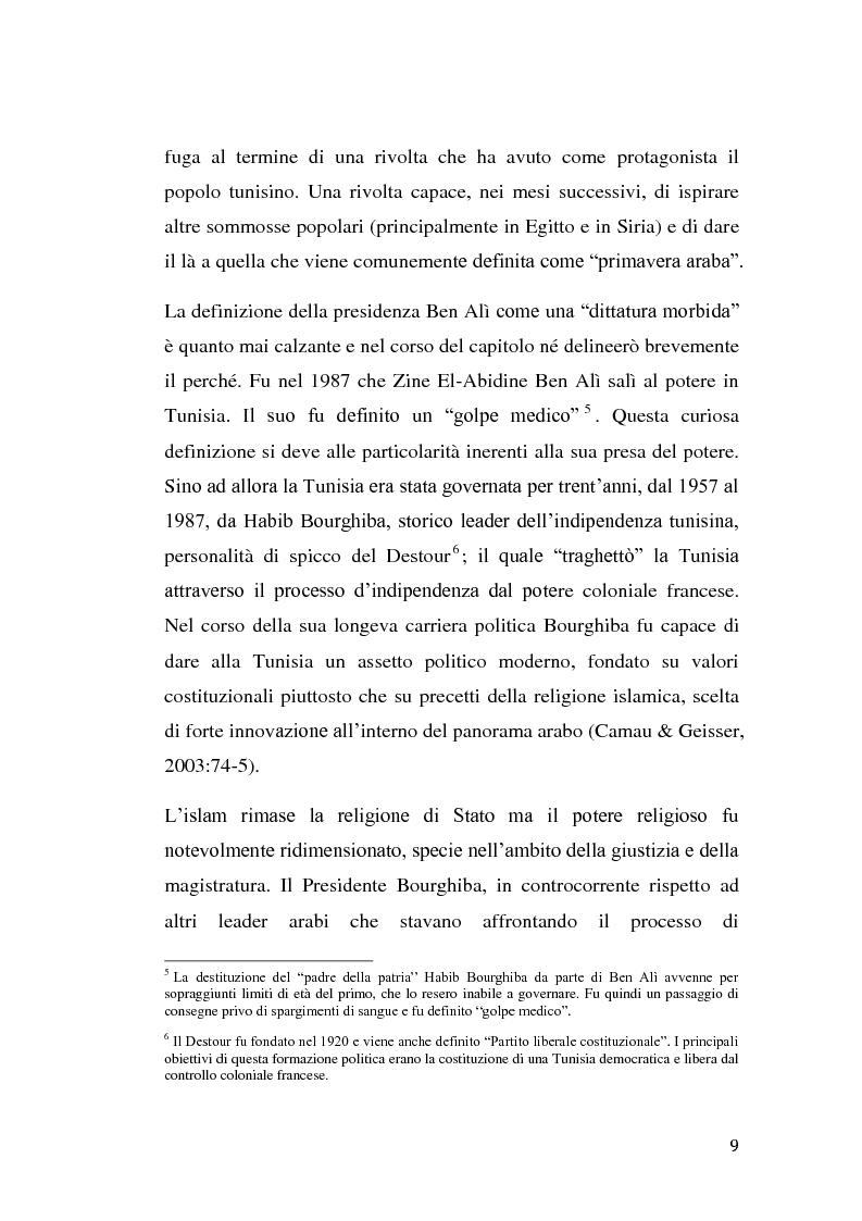 Anteprima della tesi: La rivolta tunisina e i nuovi media: un caso di indagine qualitativa., Pagina 8