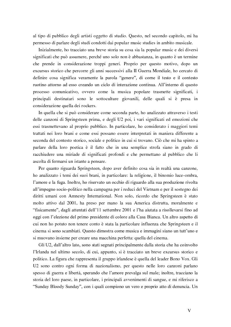 Anteprima della tesi: Cultural studies, subcultures e popular music: Bruce Springsteen e gli U2, Pagina 3