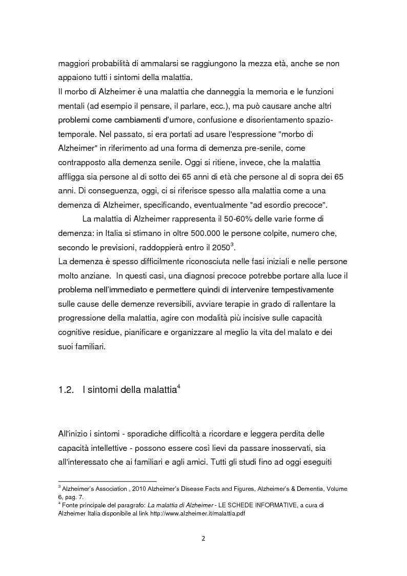 Anteprima della tesi: L'educazione come terapia per le persone con il morbo di Alzheimer, Pagina 5