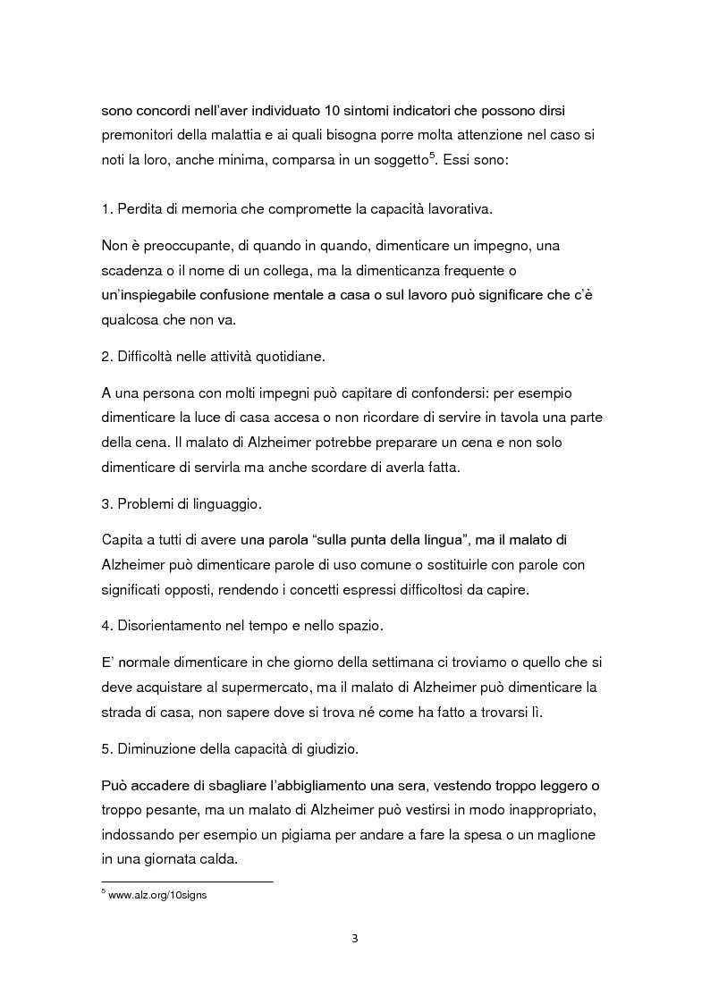 Anteprima della tesi: L'educazione come terapia per le persone con il morbo di Alzheimer, Pagina 6