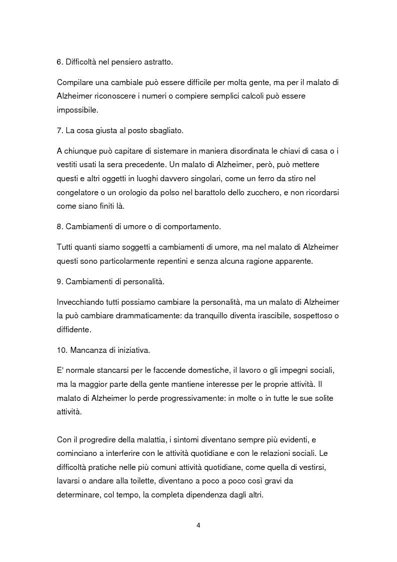 Anteprima della tesi: L'educazione come terapia per le persone con il morbo di Alzheimer, Pagina 7