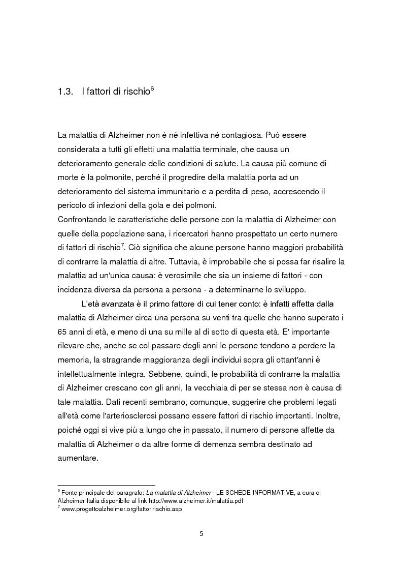 Anteprima della tesi: L'educazione come terapia per le persone con il morbo di Alzheimer, Pagina 8