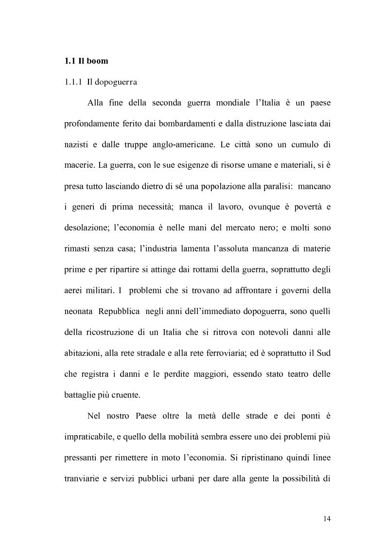 """Anteprima della tesi: """"CIAK, si guida!"""" La motorizzazione dell'Italia del boom e la sua rappresentazione cinematografica, Pagina 2"""