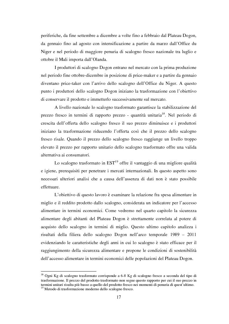 Anteprima della tesi: La sicurezza alimentare attraverso l'orticoltura: il caso dello scalogno Dogon in Mali, Pagina 10