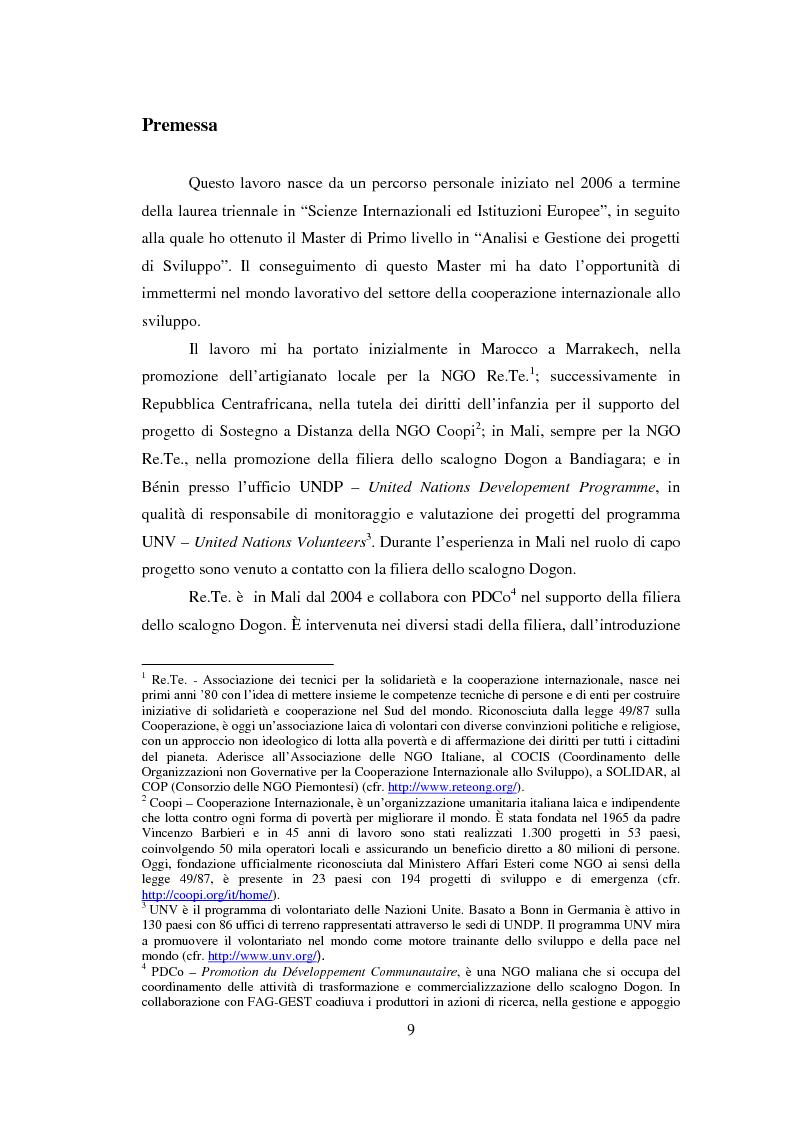 Anteprima della tesi: La sicurezza alimentare attraverso l'orticoltura: il caso dello scalogno Dogon in Mali, Pagina 2