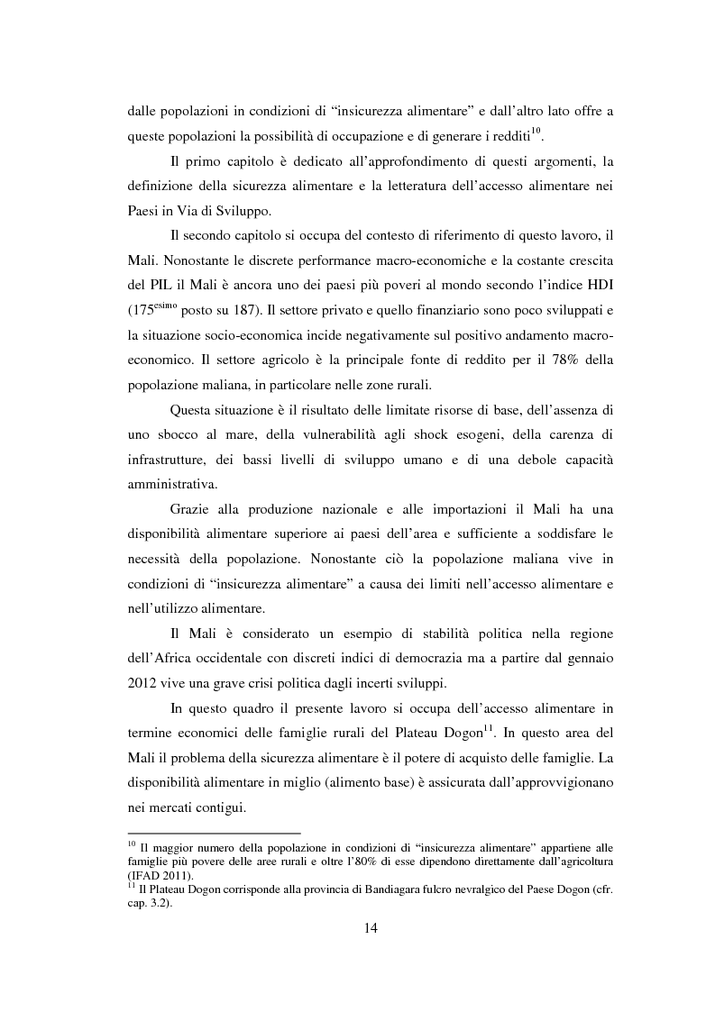 Anteprima della tesi: La sicurezza alimentare attraverso l'orticoltura: il caso dello scalogno Dogon in Mali, Pagina 7