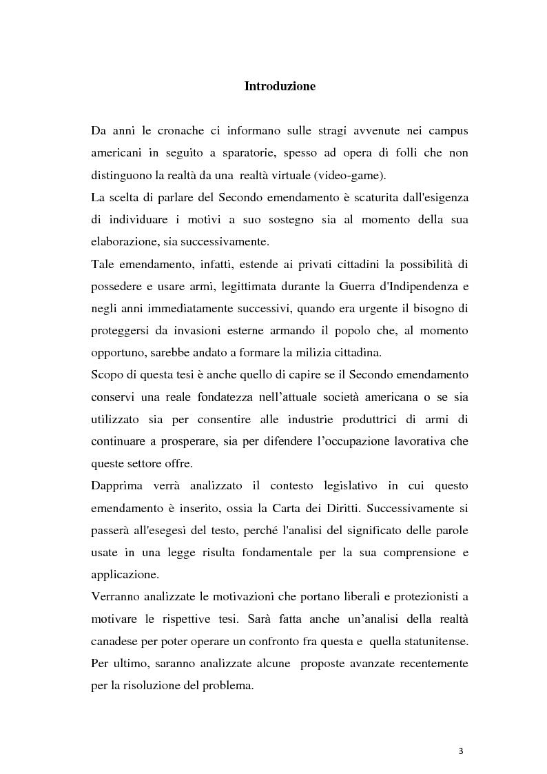 Anteprima della tesi: Secondo emendamento e porto d'armi negli Stati Uniti: un diritto discusso, Pagina 2