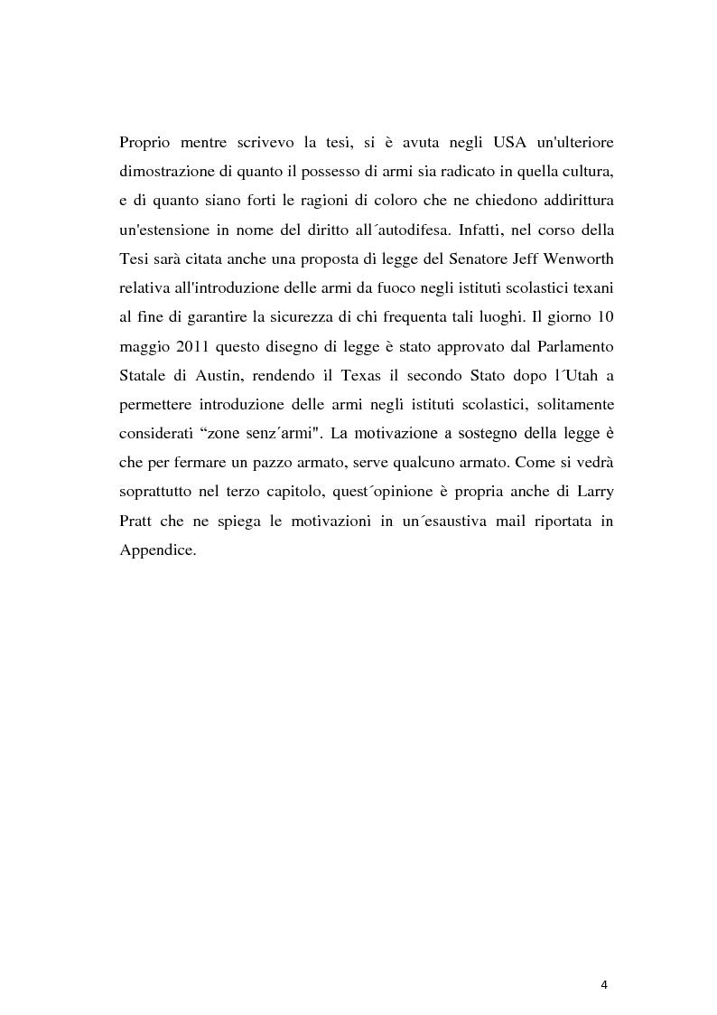 Anteprima della tesi: Secondo emendamento e porto d'armi negli Stati Uniti: un diritto discusso, Pagina 3
