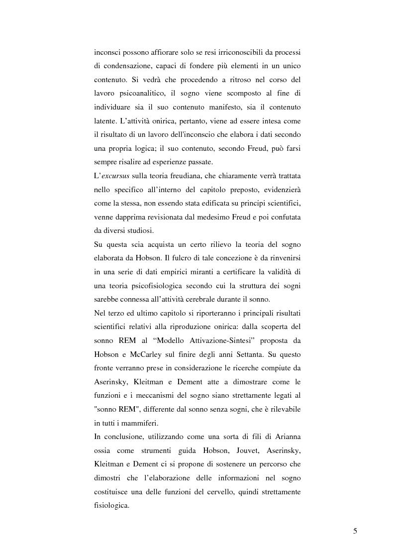 Anteprima della tesi: Il cervello e i sogni, Pagina 3
