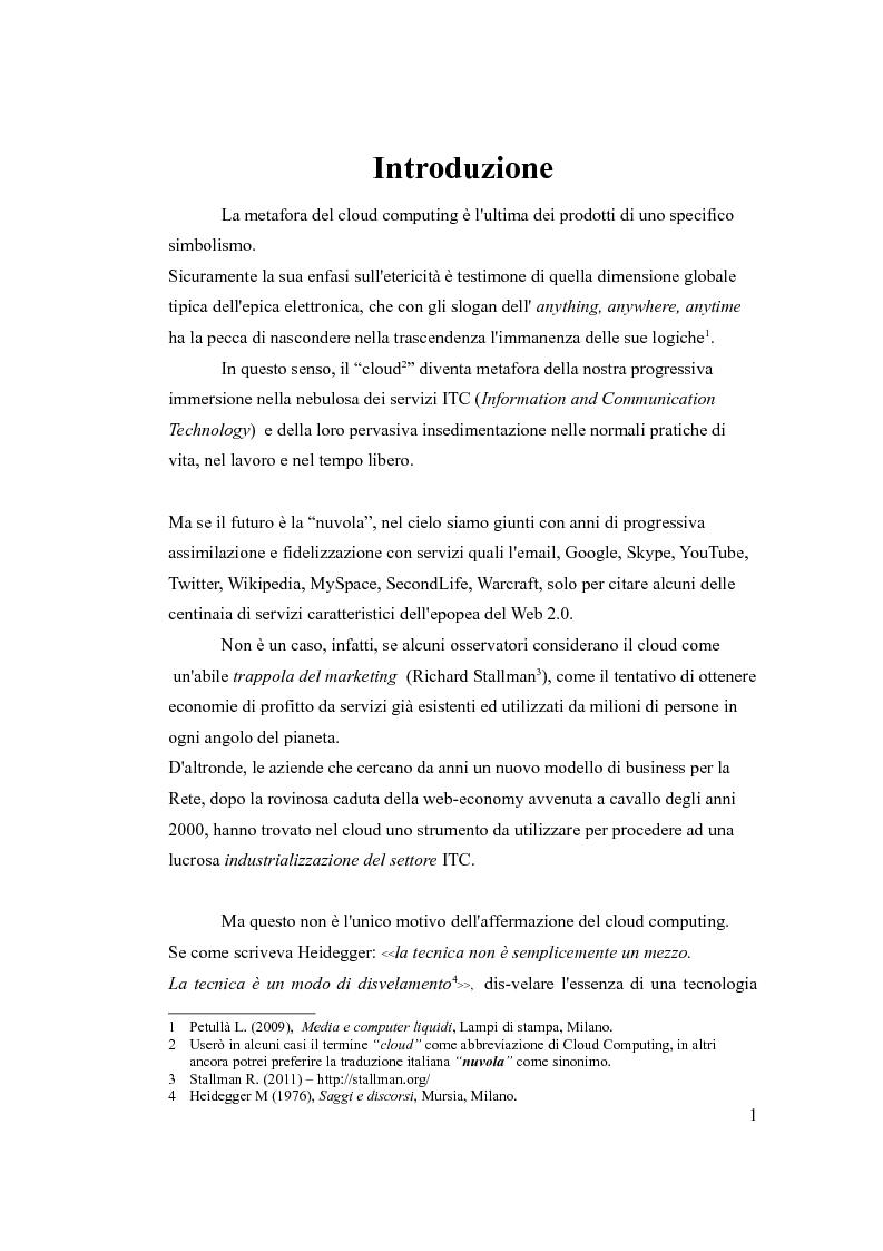 Anteprima della tesi: Cloud Computing, quello che la tecnologia vuole, Pagina 2