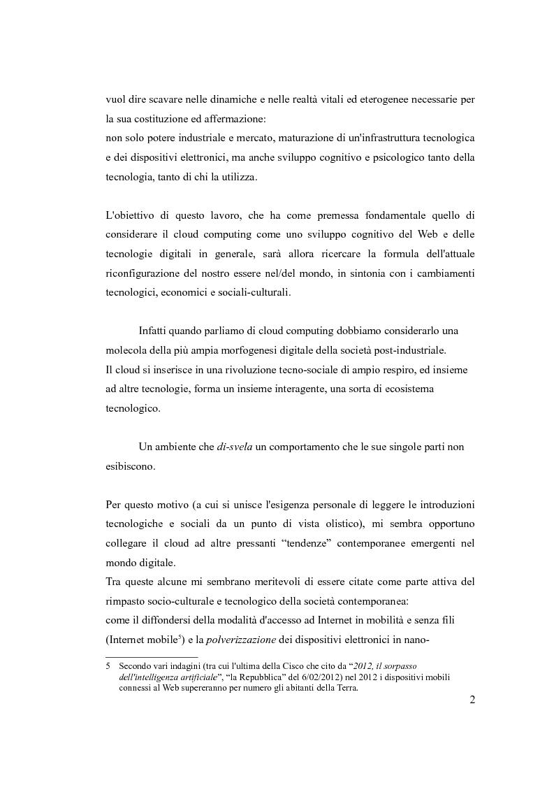 Anteprima della tesi: Cloud Computing, quello che la tecnologia vuole, Pagina 3