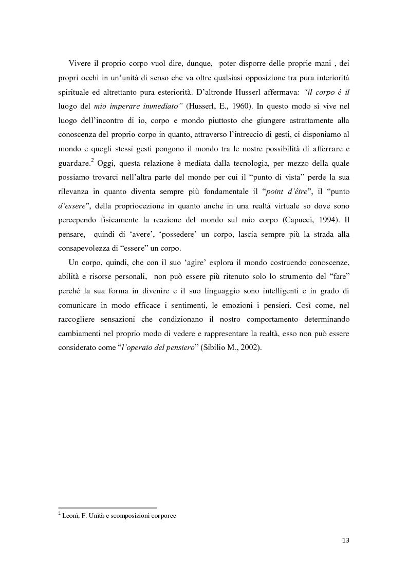 Anteprima della tesi: Corporeità e Apprendimento, Pagina 12