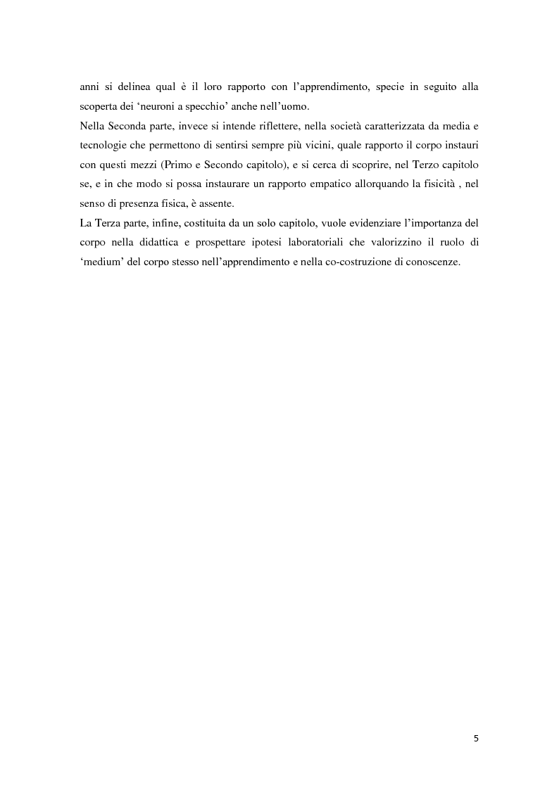 Anteprima della tesi: Corporeità e Apprendimento, Pagina 4