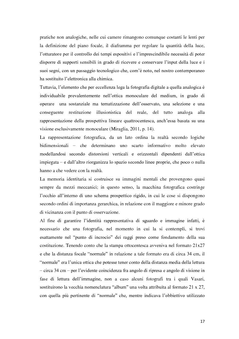 Anteprima della tesi: Identità fotografiche: processi di costruzione della realtà attraverso l'immagine, Pagina 13