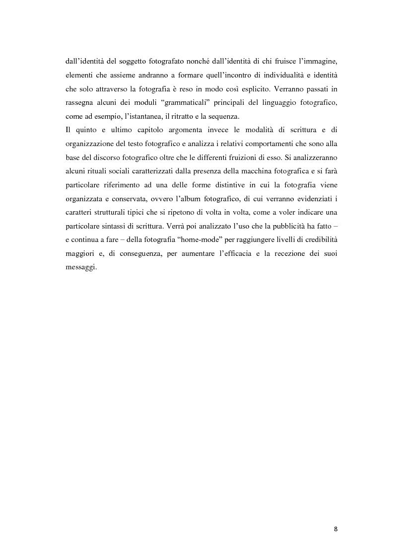 Anteprima della tesi: Identità fotografiche: processi di costruzione della realtà attraverso l'immagine, Pagina 4