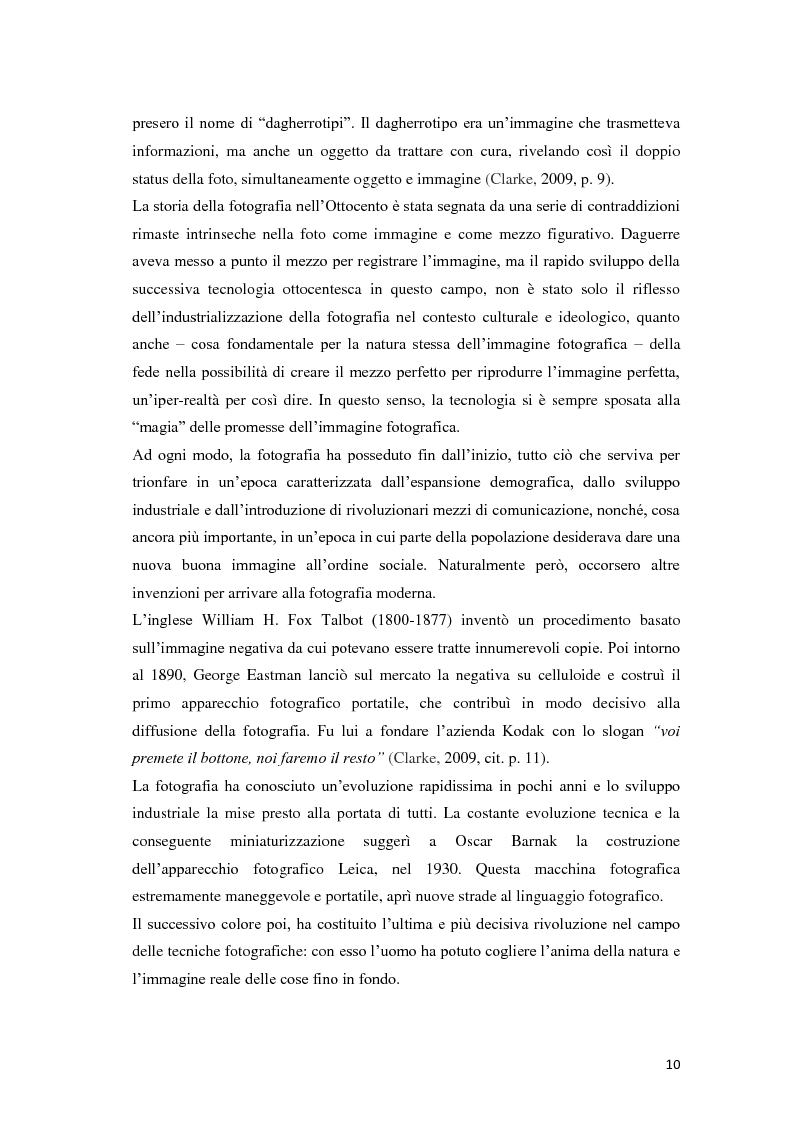 Anteprima della tesi: Identità fotografiche: processi di costruzione della realtà attraverso l'immagine, Pagina 6