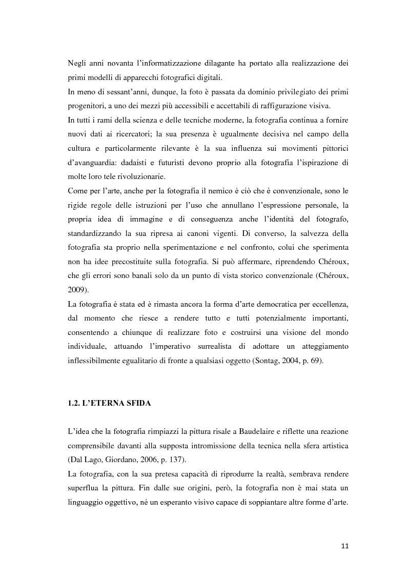 Anteprima della tesi: Identità fotografiche: processi di costruzione della realtà attraverso l'immagine, Pagina 7