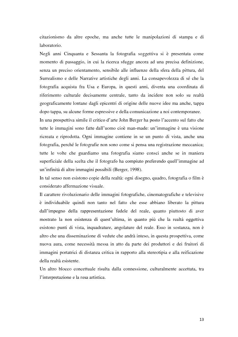 Anteprima della tesi: Identità fotografiche: processi di costruzione della realtà attraverso l'immagine, Pagina 9